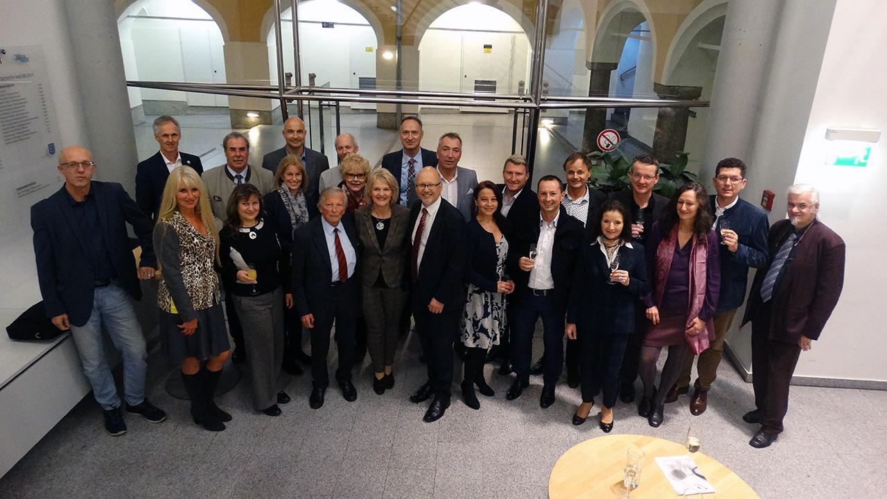 Gruppenfoto vom Empfang des Bürgermeisters