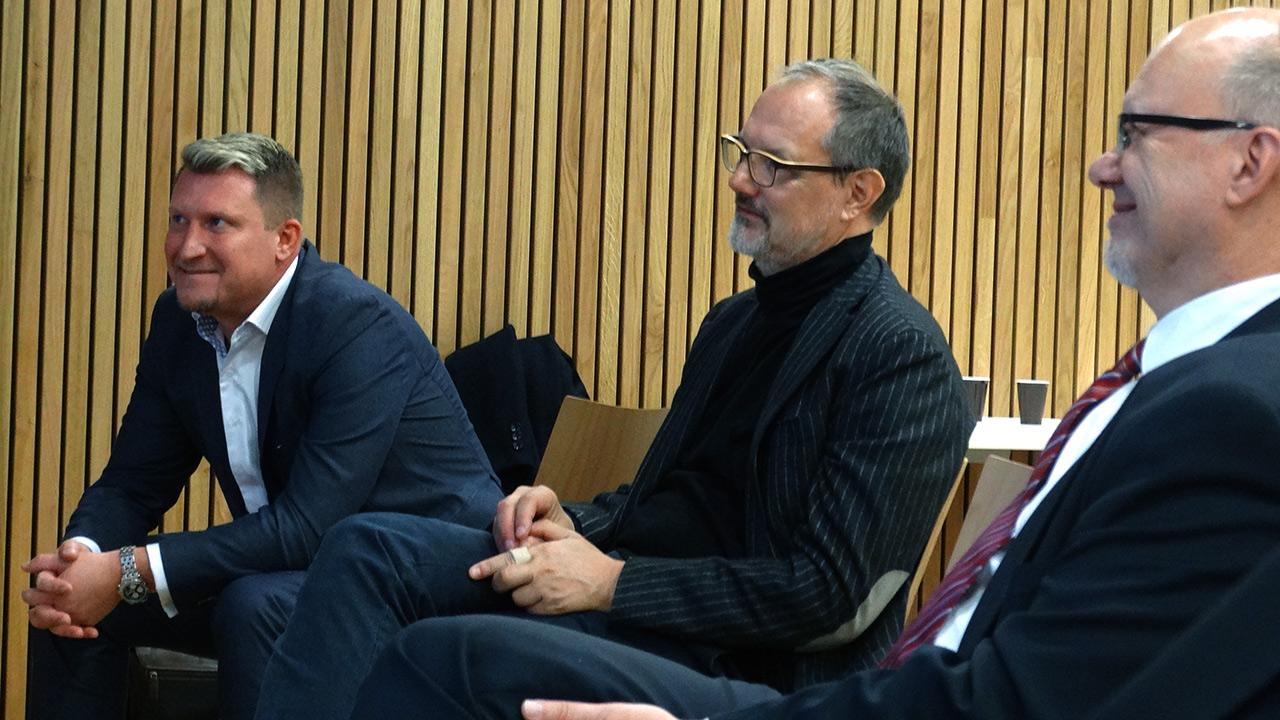 v.l.n.r. Alexander Lerch (Almondo), DI Martin Verdino (Founder + Architect von Verdino), Michael Kornhäusel (Business Doctors)