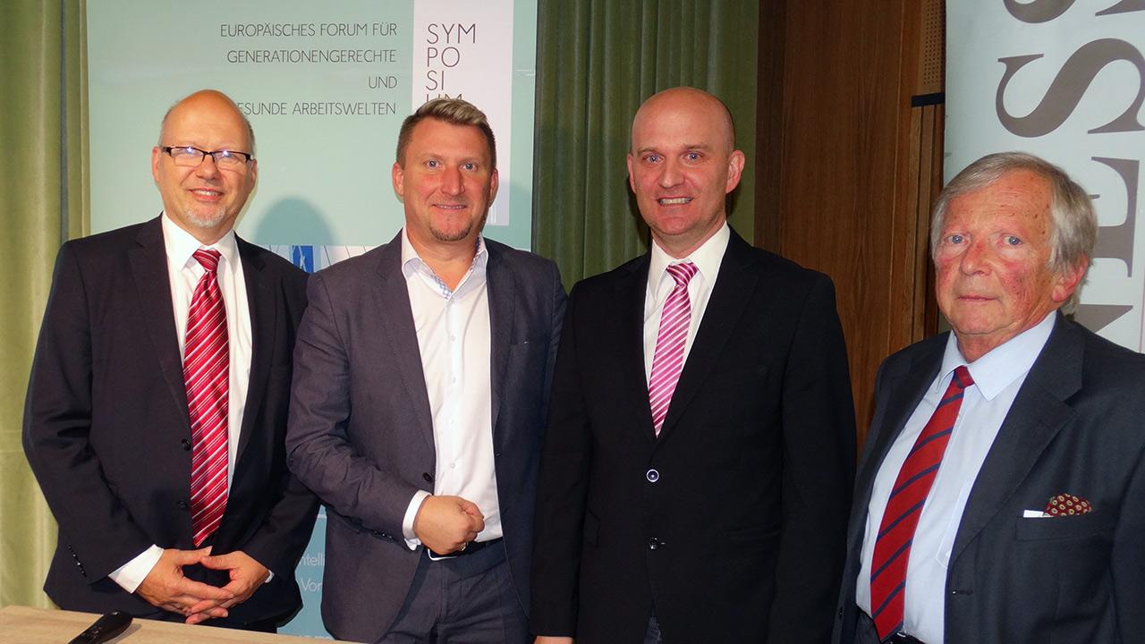 v.l.n.r. : Michael Kornhäusel (Business Doctors), Alexander Lerch, MBA CEO Famel GmbH - Almondo, Dr. Gerhard Lechner (FH JOANNEUM), F.K. Daublebsky (Business Doctors)
