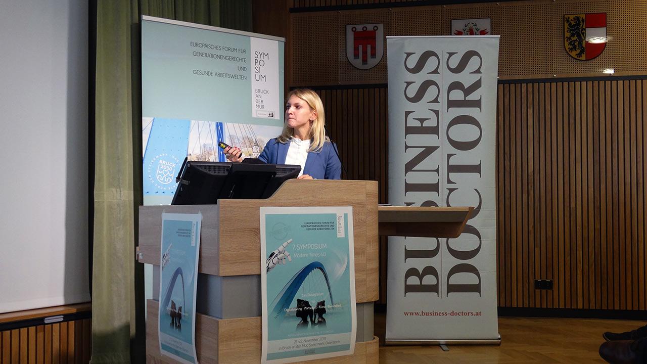 Referentin Mag. Dr. Sylvia Peißl (AUVA – Landesstelle Graz Arbeitspsychologie)