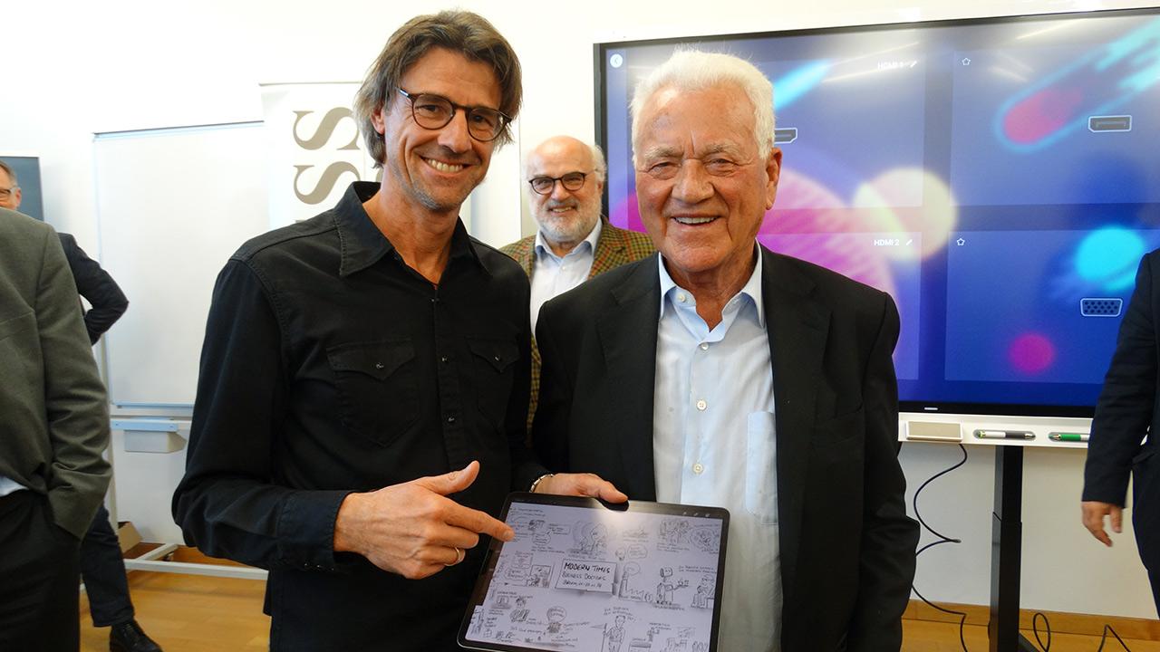 Ing. Reinhard Gussmagg (Gussmagg Art) und Frank Stronach