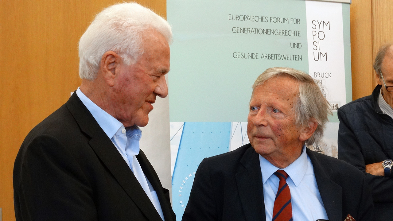 Frank Stronach und F.K. Daublebsky (Business Doctors)