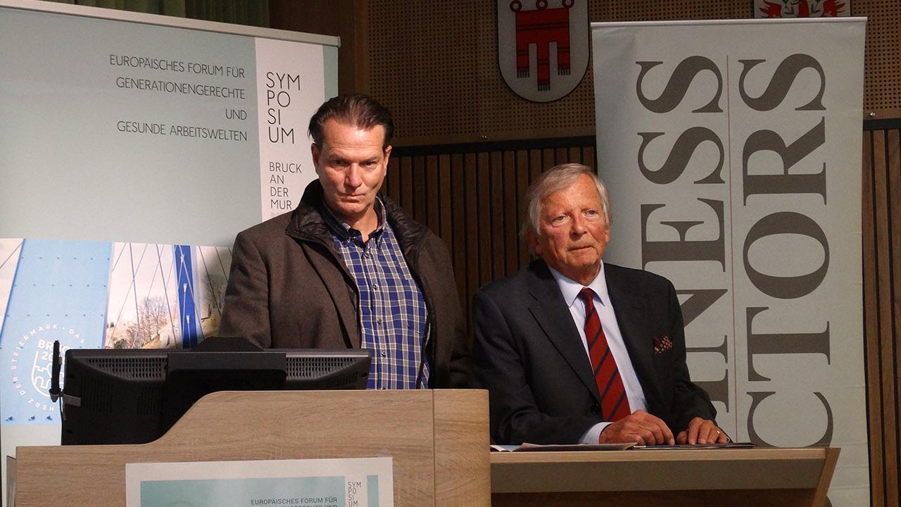 v.l.n.r.: Mag. Dominik Alder (XAL), F. K. Daublebsky (Business Doctors)